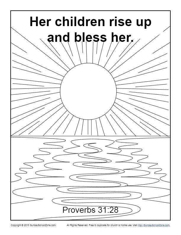 Images of Proverbs 31 Coloring Page - Sabadaphnecottage