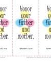 Printable Bible Verse Bookmarks - Ephesians 6:2