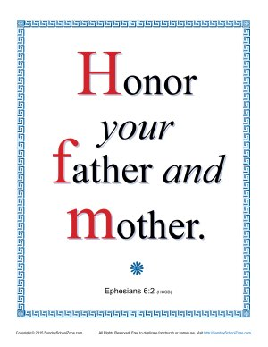 Honor Your Father And Your Mother Scripture Page