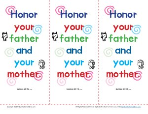 Honor Your Father And Mother Bookmarks
