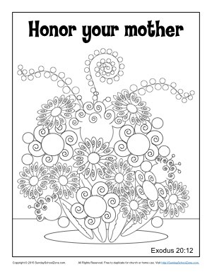 Free Sunday School Coloring Pages For Mother S Day