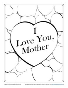 Printable Coloring Page For Mothers Day