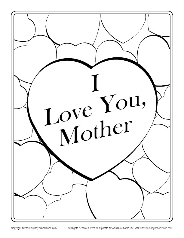 Free Printable Mother S Day Greeting Cards On Sunday School Zone