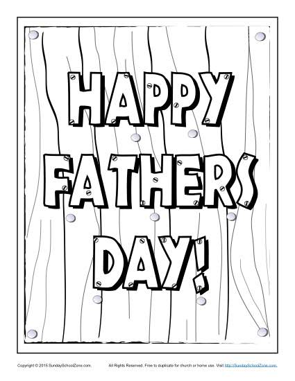 Father\'s Day Coloring Pages on Sunday School Zone