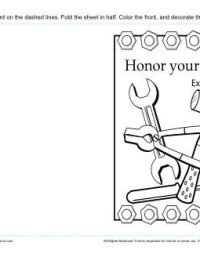 Printable Card for Sunday School - Honor Your Father (Exodus 20:12)