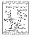 Honor Your Father Coloring Page (Exodus 20:12) - Sunday School Activity