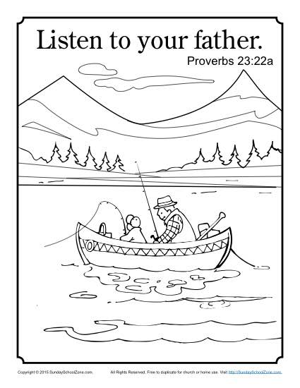 Listen To Your Father Coloring Page Children S Bible