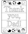 Printable Father's Day Coloring Page - Thank You, Dad!