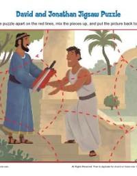 Children's Bible Activity - David and Jonathan Jigsaw Puzzle