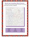 David and Jonathan Word Search Activity for Sunday School