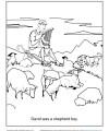 David Was a Shepherd Boy Coloring Activity for Sunday School