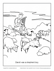 David Was A Shepherd Boy Coloring Page Children S Bible Activities