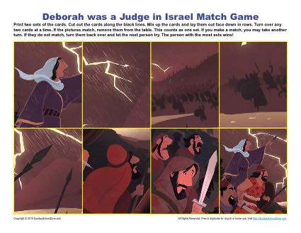 Deborah Was A Judge In Israel Match Game Children S