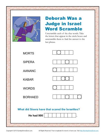 Deborah was a Judge in Israel Word