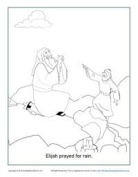 Coloring Page Bible Activity - Elijah Prayed For Rain