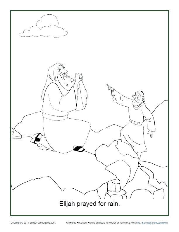 elijah prayed for rain coloring page pdf image