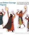Children's Sunday School Puppet Activity - Gideon Figures