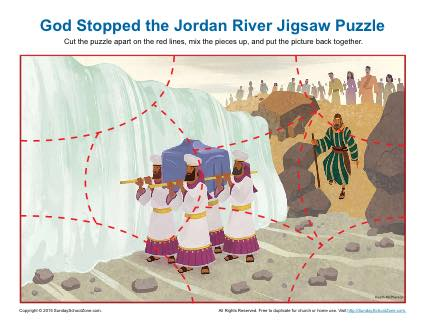 God Stopped the Jordan River Jigsaw Puzzle Children 39 s