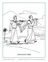 Joshua and Caleb Coloring Page - Children's Bible Activities ...