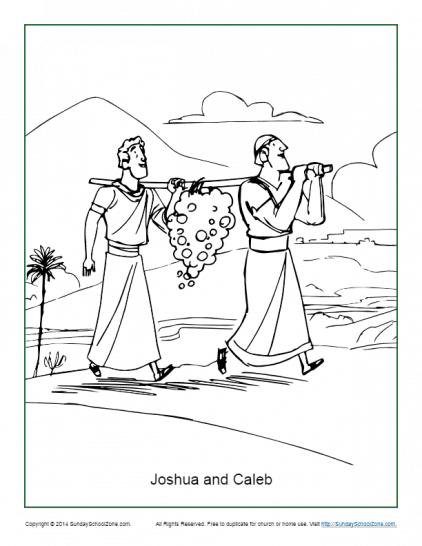 Joshua and Caleb Explored the Promised Land on Sunday ...