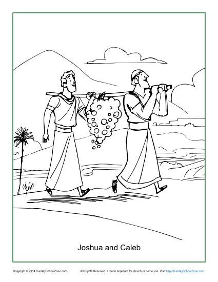 free bible coloring pages joshua - photo#22