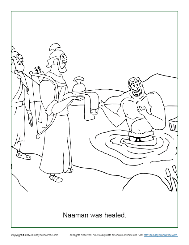 Naaman Was Healed Coloring Page - Children\'s Bible ...