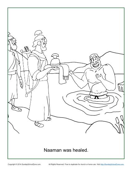 naaman and elisha coloring pages - photo #7