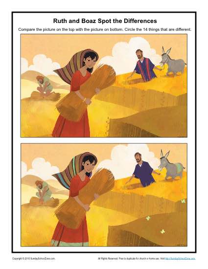 Ruth and Boaz Spot the Differences