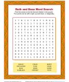 Ruth and Boaz Word Search for Sunday School