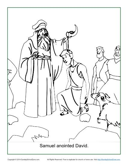 Samuel Anointed David Coloring Page Children 39 s Bible