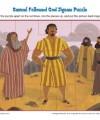 Children's Jigsaw Puzzle Bible Activity - Samuel Followed God