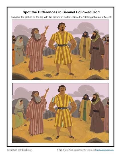 Samuel Followed God Spot the Differences