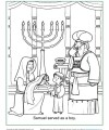 Bible Activity Coloring Page - Samuel Served as a Boy