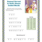 Children's Bible Coded Words Activity - Samuel Served in God's House