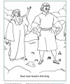 Bible Activity Coloring Page - Saul was Israel's First King