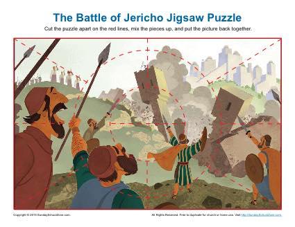 The Battle Of Jericho Jigsaw Puzzle Children S Bible