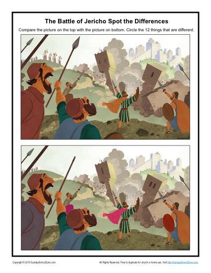 The Battle of Jericho Spot the