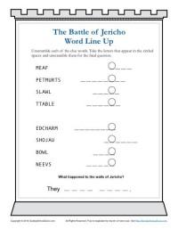 Printable Sunday School Worksheet - The Battle of Jericho