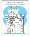 Children's Bible Activity - Walls of Jericho Maze