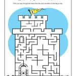 Children's Bible Activity - Walls of Jericho Maze