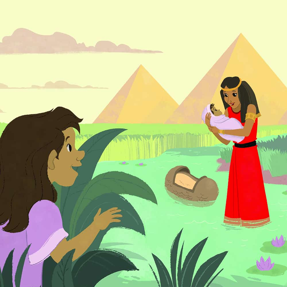 God Protected Baby Moses Teaching Picture Children S