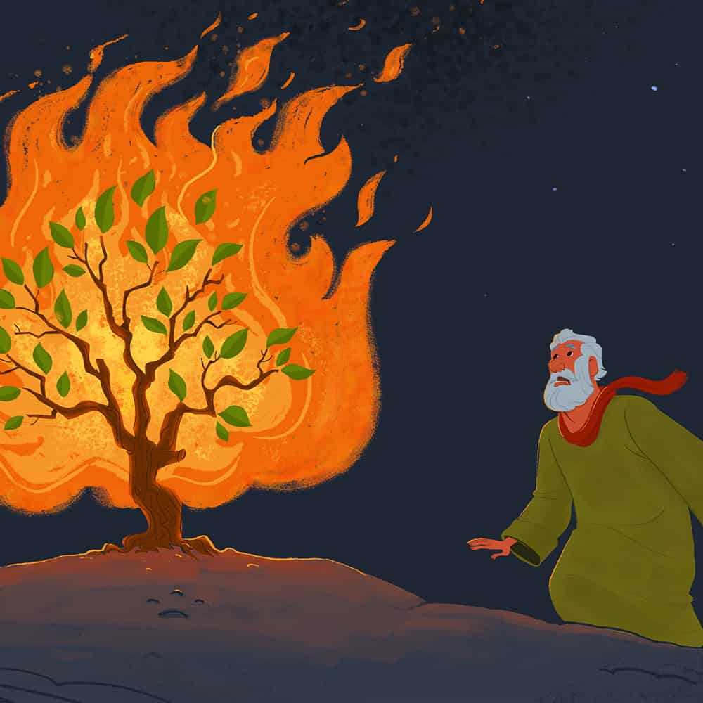 Free, Printable God Spoke to Moses in the Burning Bush ...