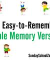 101+ Easy Bible Memory Verses for Children