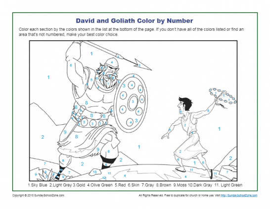 graphic regarding David and Goliath Printable Story called Free of charge, Printable David and Goliath Bible Functions upon Sunday