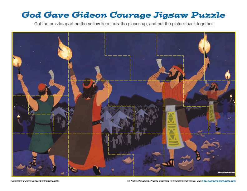 God Gave Gideon Courage Jigsaw