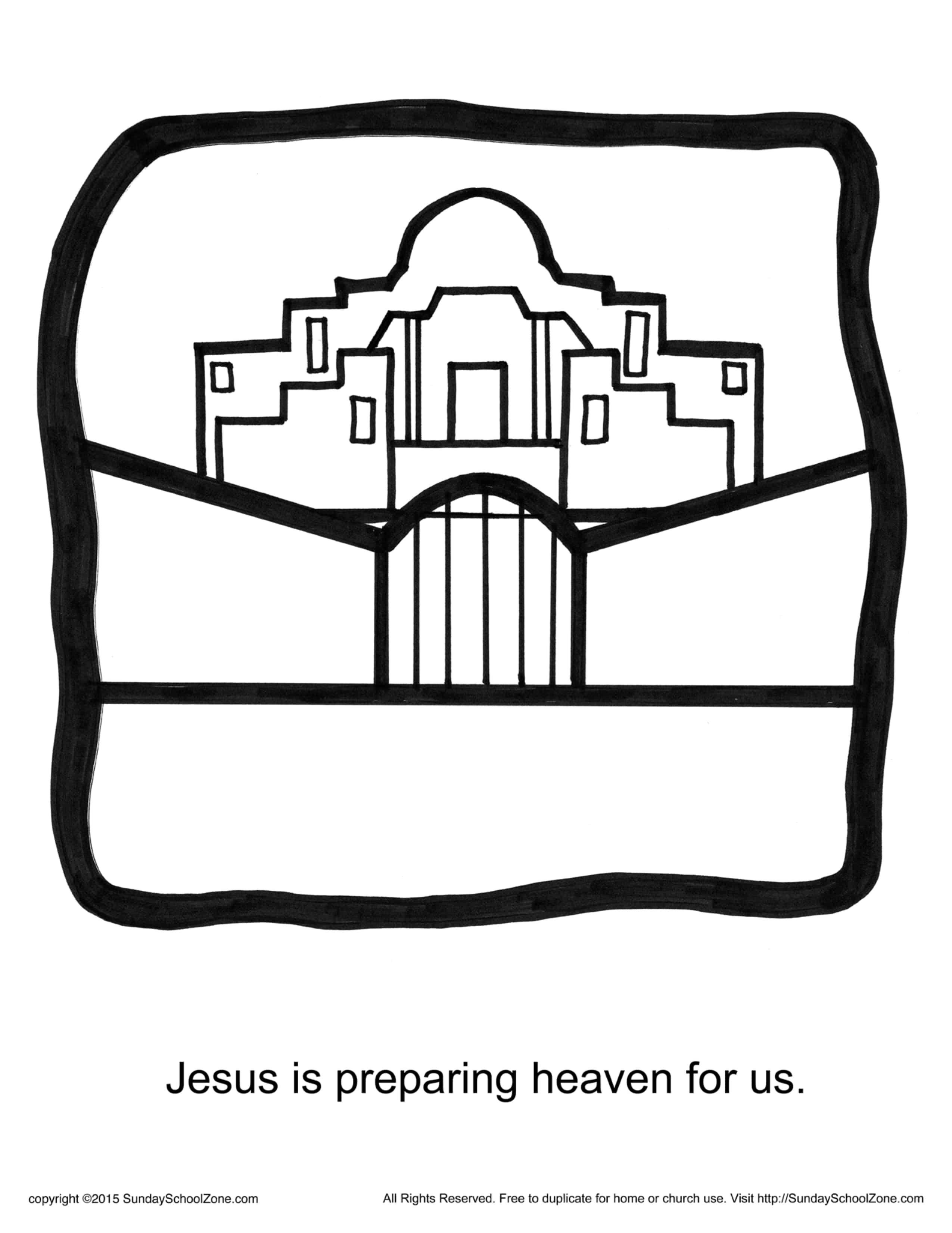 Jesus Is Preparing Heaven For Us Story Icon Coloring Page ...