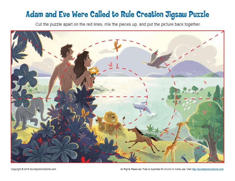 Adam And Eve Were Called To Rule Creation Jigsaw Puzzle