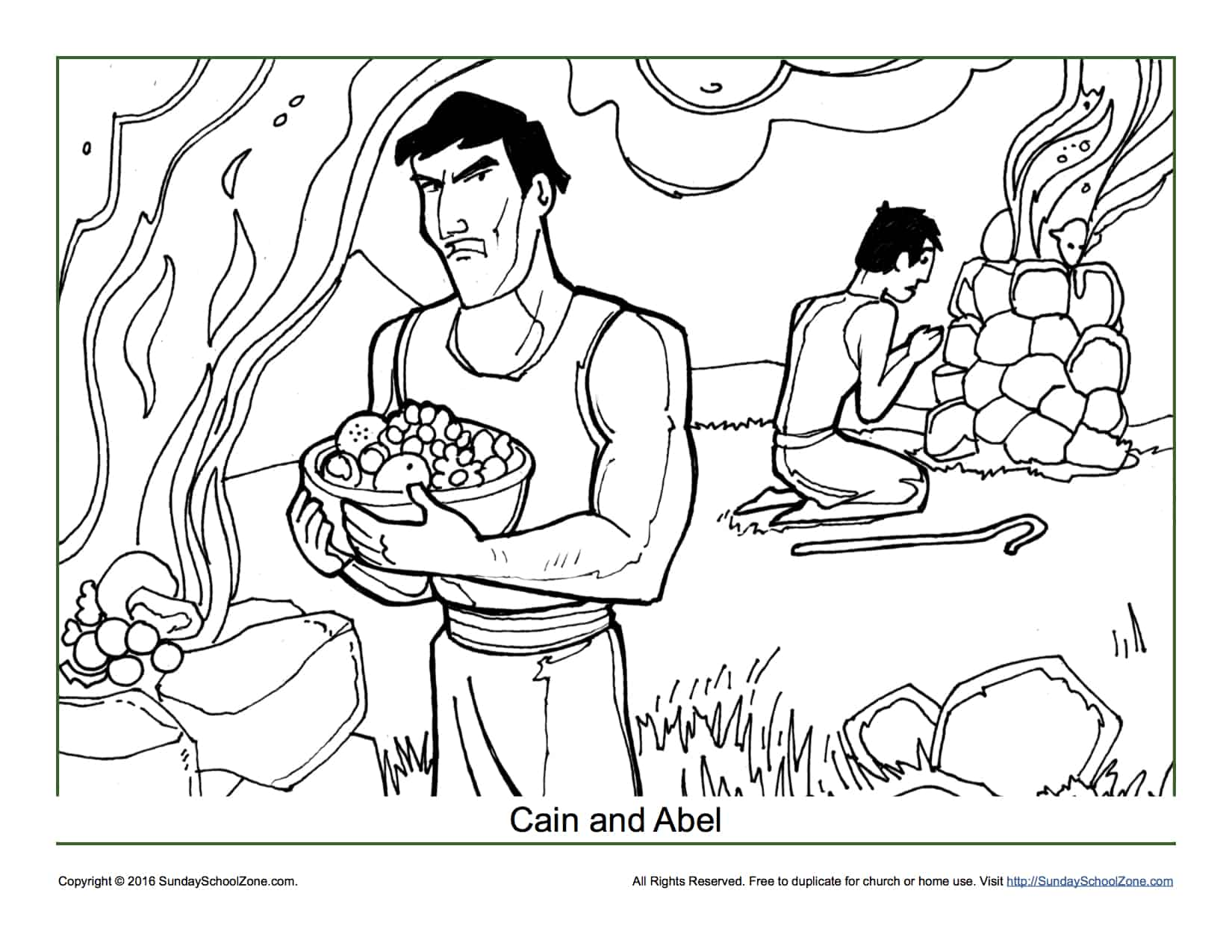 Cain and Abel Coloring Page - Children\'s Bible Activities | Sunday ...