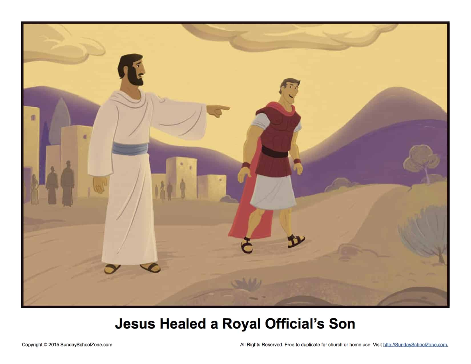 Jesus Healed A Royal Official S Son Story Illustration