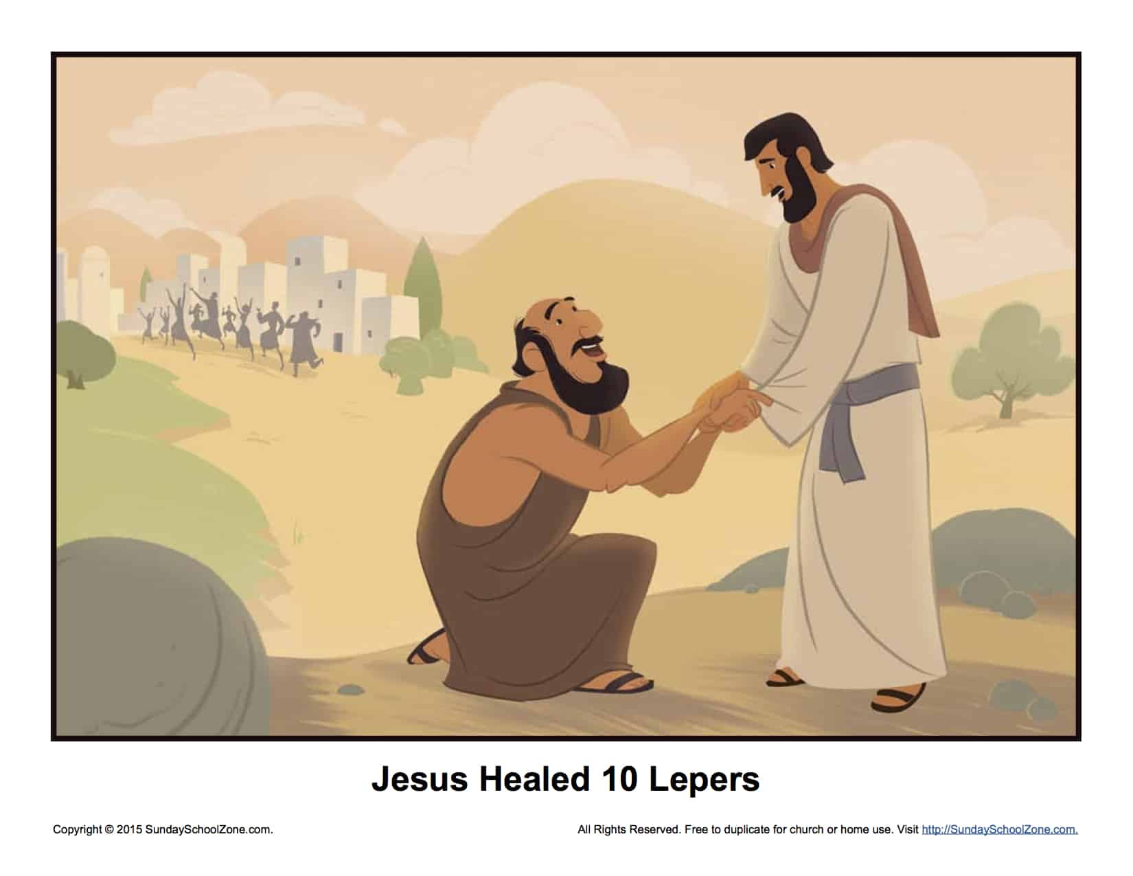 Jesus Healed Ten Lepers Story Illustration